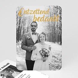 Chique bedankkaartjes huwelijk Ontzettend bedankt