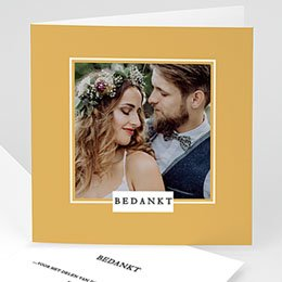 Chique bedankkaartjes huwelijk Extra Chique