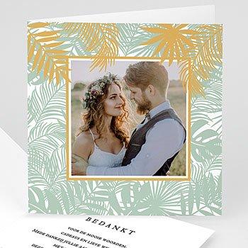 Chique bedankkaartjes huwelijk - Tropical thanks - 0