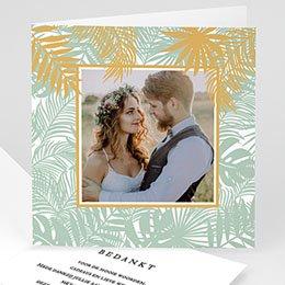 Bedankkaartjes Huwelijk Tropical thanks