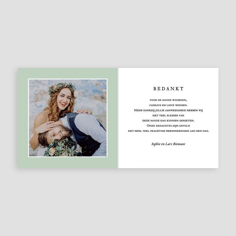 Chique bedankkaartjes huwelijk Tropical thanks pas cher