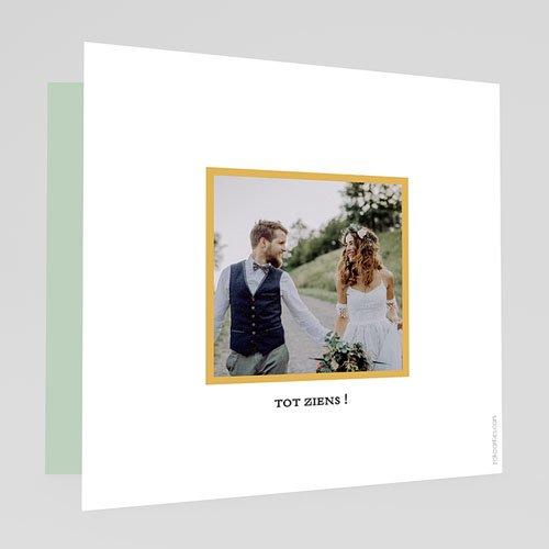 Chique bedankkaartjes huwelijk Tropical thanks gratuit