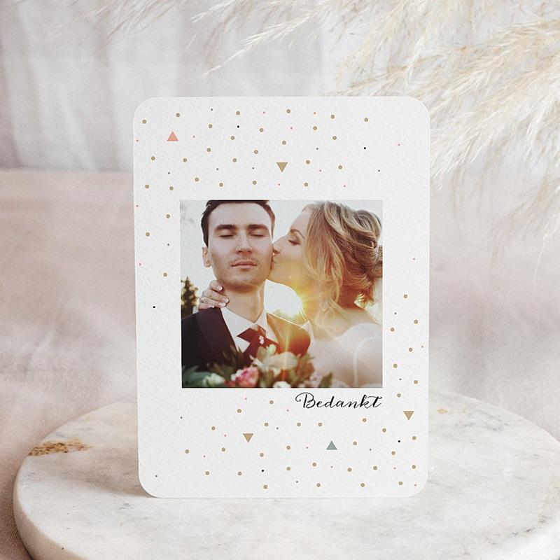 Creatieve bedankkaartjes huwelijk Modern Polka Dots