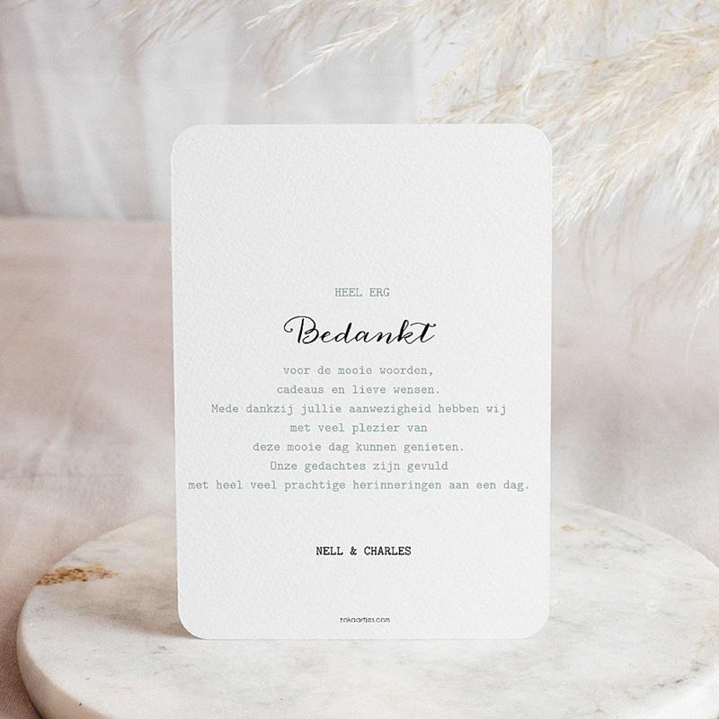 Creatieve bedankkaartjes huwelijk Modern Polka Dots pas cher