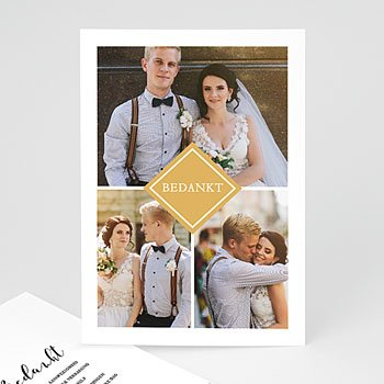 Chique bedankkaartjes huwelijk - Love Story - 0