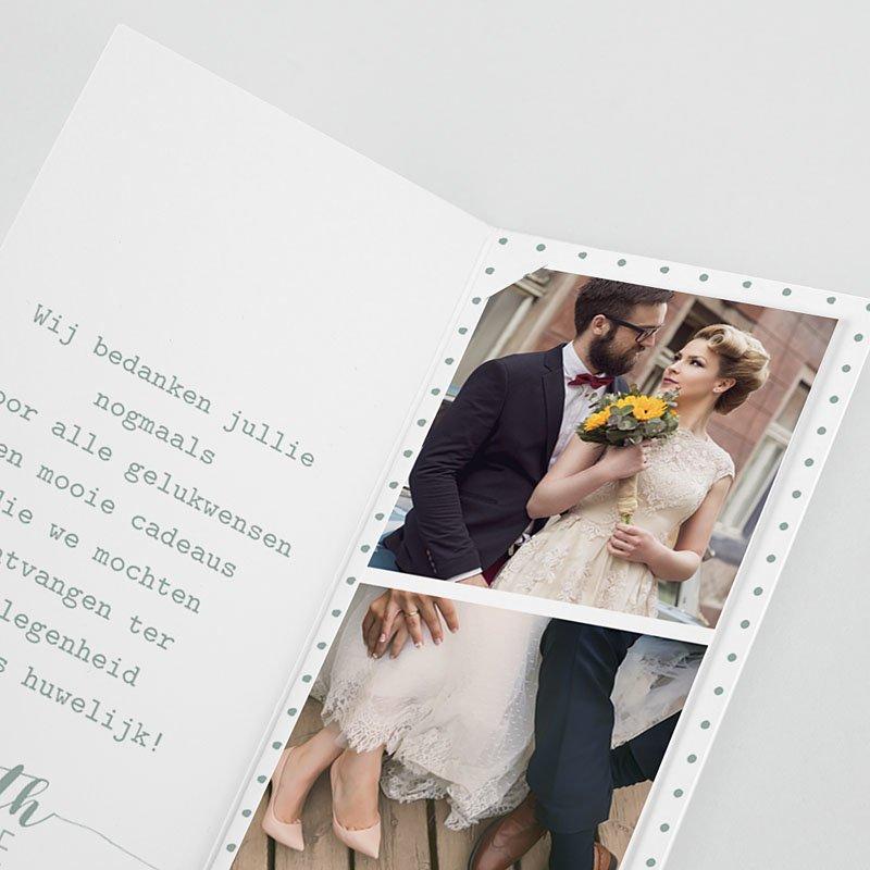 Originele bedankkaarten huwelijk - Gouden boho 55702 thumb