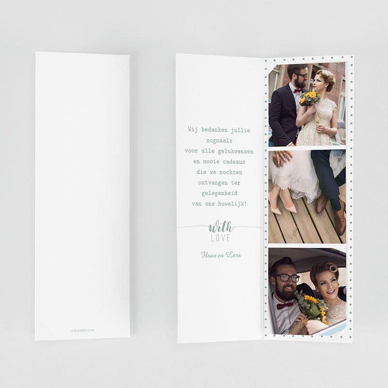 Originele bedankkaarten huwelijk - Gouden boho 55703 thumb