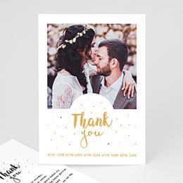 Bedankkaarten huwelijk met foto Sweet Thank You