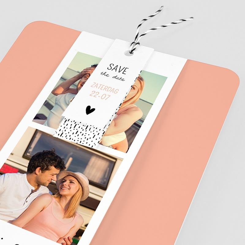 Creatieve trouwkaarten - 2 harten 55763 thumb