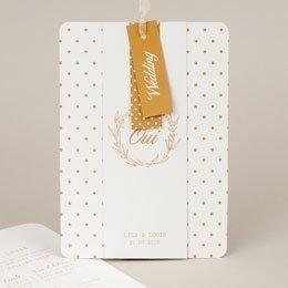 Chique trouwkaarten - Gouden Ja - 0
