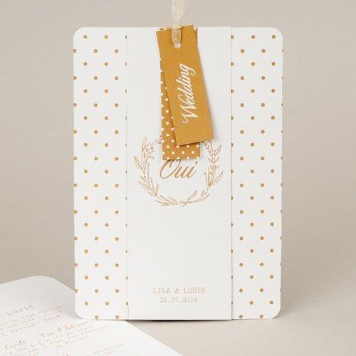 Chique trouwkaarten - Gouden Ja 55780 thumb