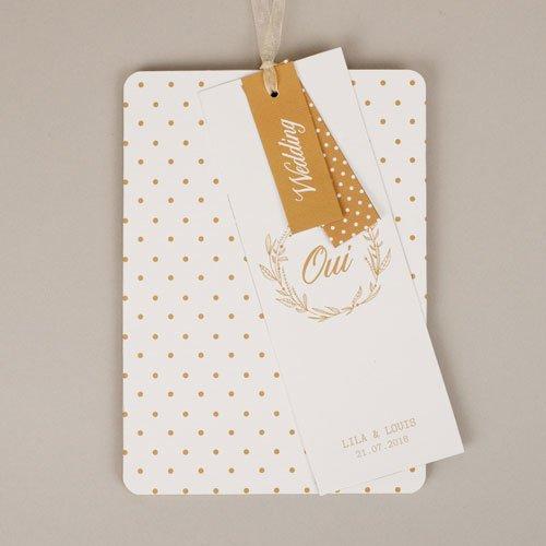 Chique trouwkaarten - Gouden Ja 55781 thumb