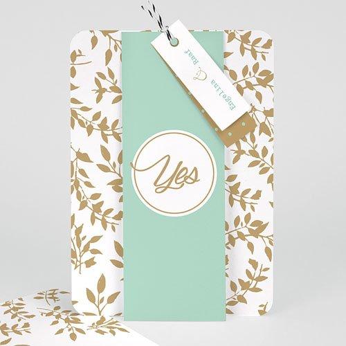 Landelijke trouwkaarten - Gouden bladeren 55789