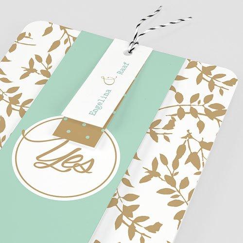 Landelijke trouwkaarten - Gouden bladeren 55790 preview