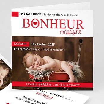 Geboortekaartje meisje - Geboortetijdschrift - 0