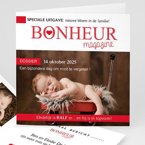 Geboortekaartje meisje - Geboortetijdschrift 55852