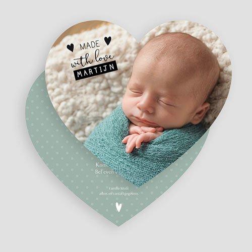 Geboortekaartje jongen - Maak 't zelf af 55862 thumb