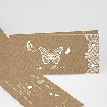 Personaliseerbare trouwkaarten - Vlakke vlinder - 0