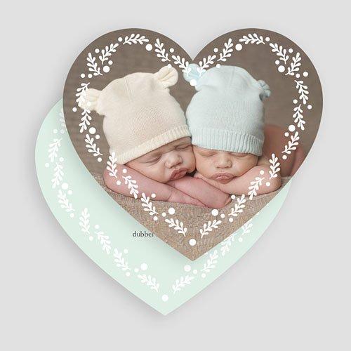 Geboortekaartjes tweelingen - Een tweeling ronde 55869 thumb