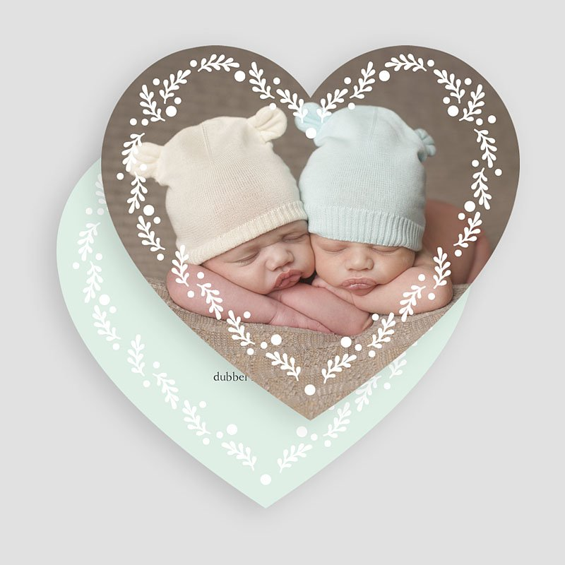 Geboortekaartjes Tweeling Een tweeling ronde gratuit