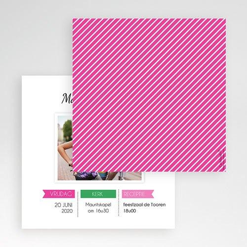 Vierkante Trouwkaarten - Poppie 55903 thumb