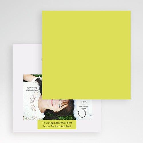 Vierkante Trouwkaarten - Laat een boodschap na 55909 thumb