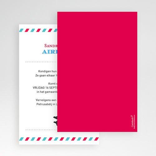 Rechthoekige trouwkaarten - Op reis JA 55915 thumb