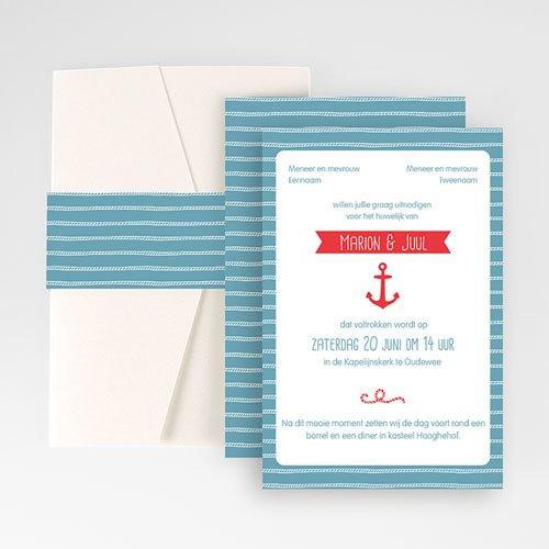 Rechthoekige trouwkaarten - zeewind 55939 thumb