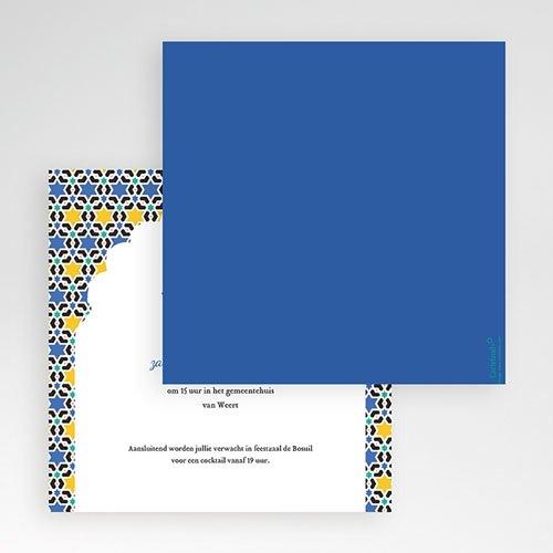 Vierkante Trouwkaarten - Casablanca 55952 thumb
