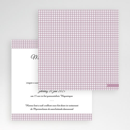 Vierkante Trouwkaarten - Lady and Gentleman 55974 thumb