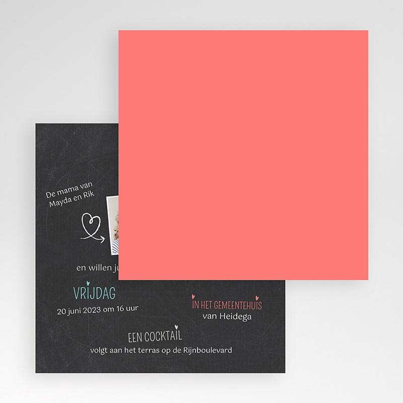 Trouwkaarten met Insteekvakje Omringen elkaar