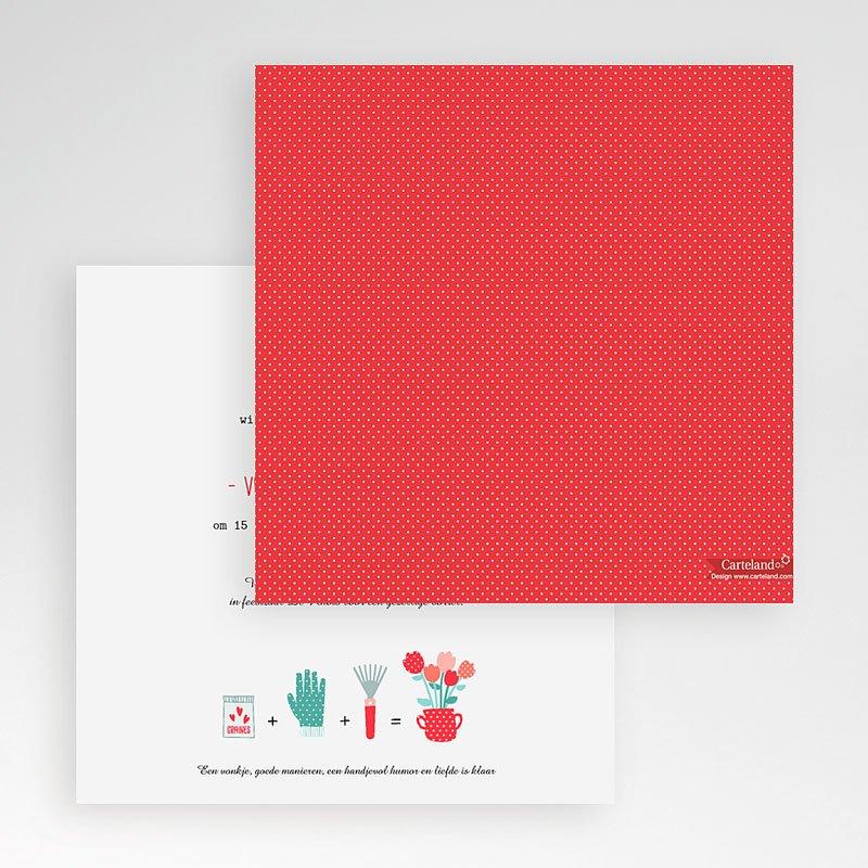Vierkante Trouwkaarten - een pot liefde 56034 thumb
