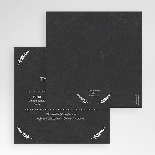 Vierkante Trouwkaarten Met lauweren
