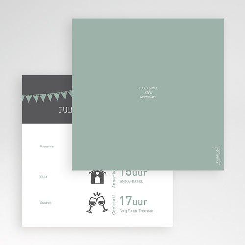 Vierkante Trouwkaarten - decoratief trouwkaartje 56044 thumb