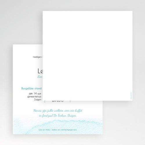Vierkante Trouwkaarten - Aquarelwerk 56068 thumb