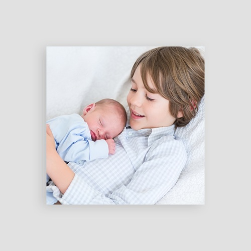 Bedankkaartje geboorte zoon - Pinguïn blauw 56082 thumb