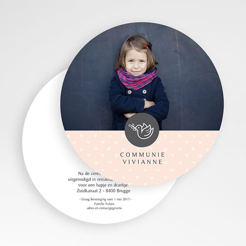 Uitnodiging communie meisje - Gevleugeld mee 56098 thumb