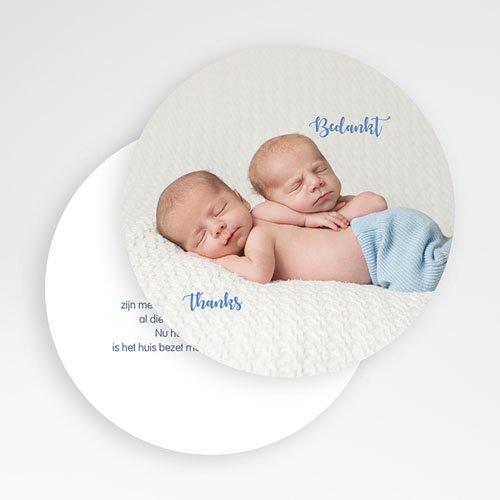 Bedankkaartje geboorte tweelingen - Muisjes 56112 preview