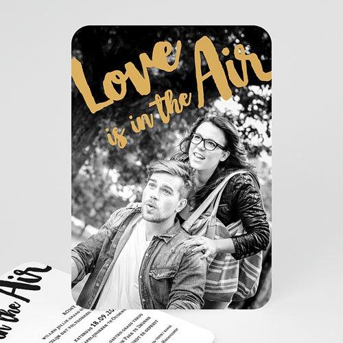Trouwkaarten met foto - Golden Love 56126 thumb