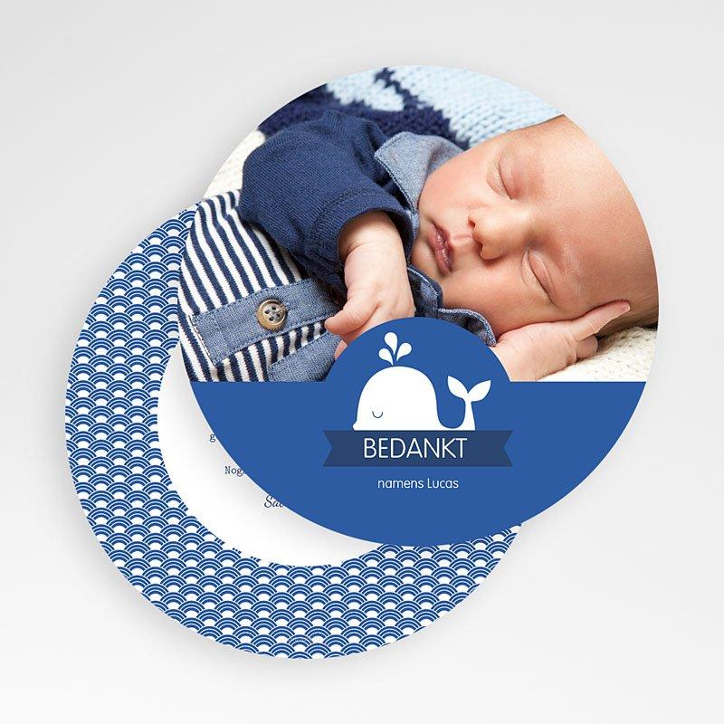 Bedankkaartje geboorte zoon - Walvisje 56181 thumb