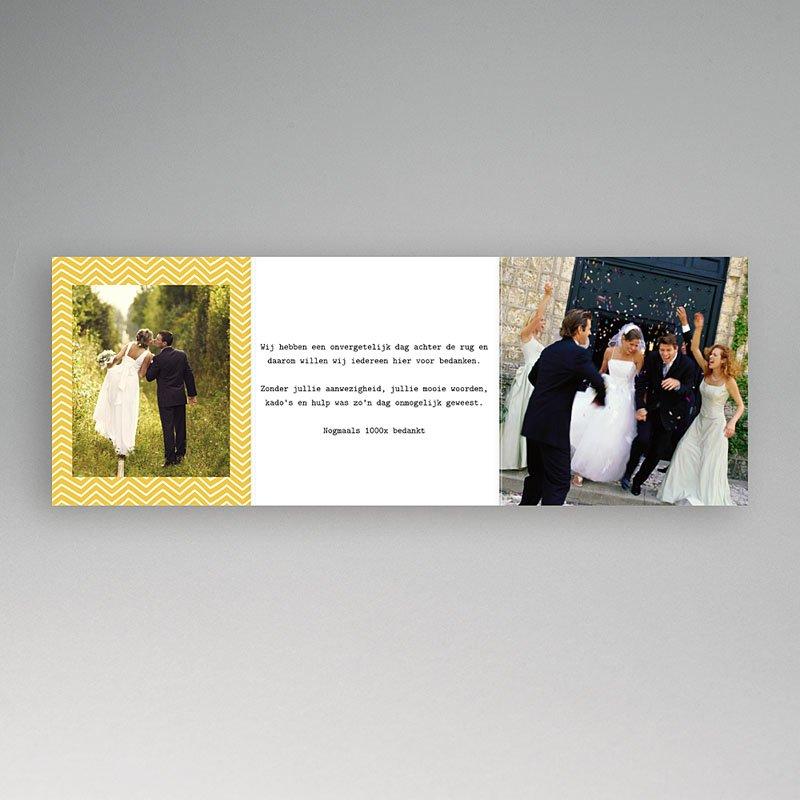 Bedankkaartjes huwelijk Handgemaakt