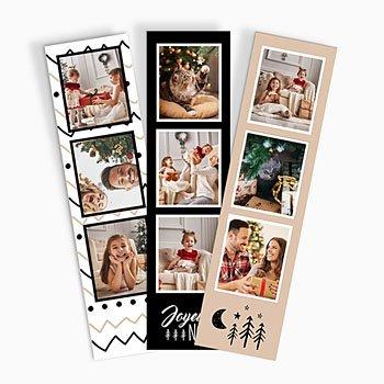 Paulux met foto Kerst chevron (papier)