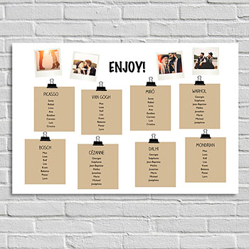 Posters - Table plan Art - 0
