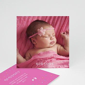 Bedankkaartje geboorte dochter - Ze laat haar eerste sporen na - 0
