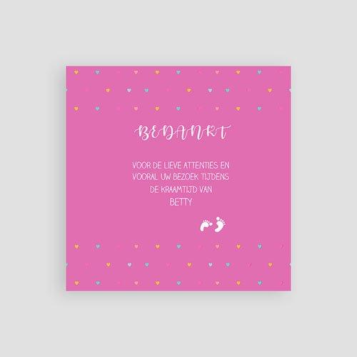 Bedankkaartje geboorte dochter - Ze laat haar eerste sporen na 57054 thumb