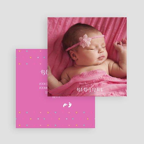 Bedankkaartje geboorte dochter - Ze laat haar eerste sporen na 57055 thumb