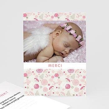 Bedankkaartje geboorte dochter - Knoopje in de zakdoek - 0