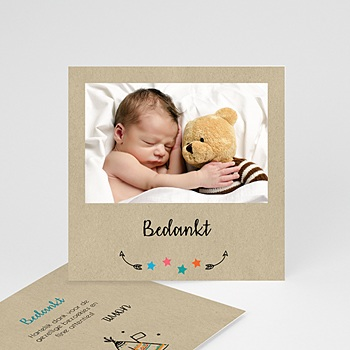 Originele bedankkaartjes geboorte - wigwam - 0