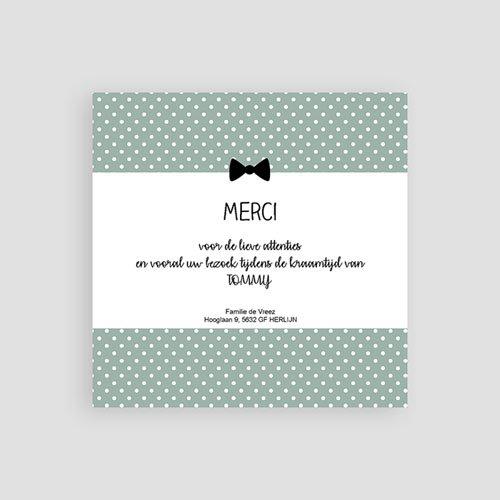 Bedankkaartje geboorte zoon - kleine gentlemen 57070 preview
