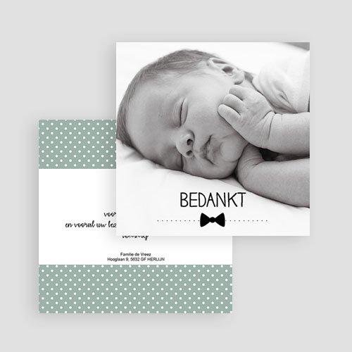 Bedankkaartje geboorte zoon - kleine gentlemen 57071 preview